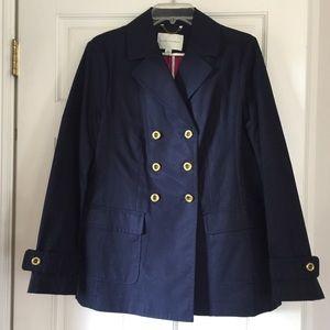 Navy Blue rain jacket by Banana Republic